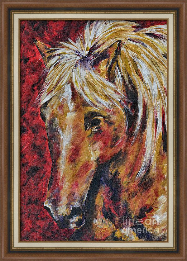 In The August Wind - Horse Art by Jai Johnson