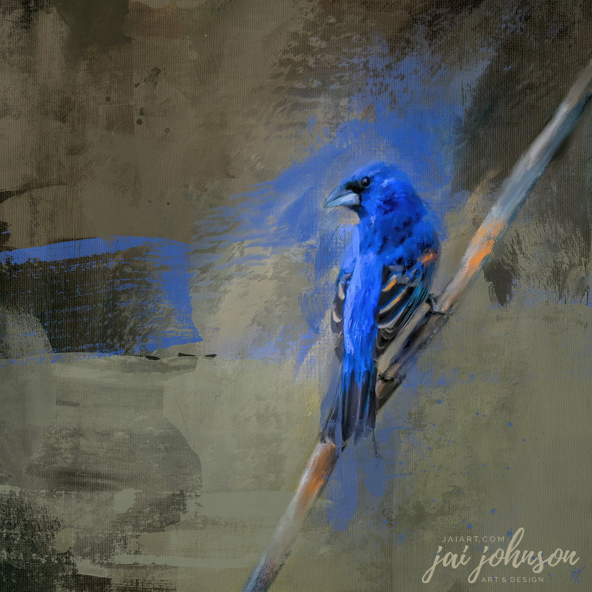 Blue Grosbeak Art