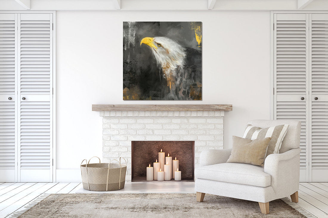 Bald eagle painting by Jai Johnson
